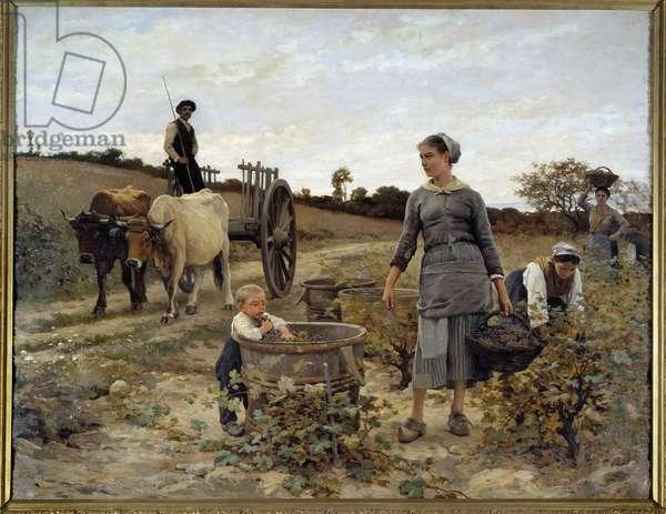 Corner of vine in Languedoc Painting by Edouard Debat Ponsan (1847-1913) 1886 Sun. 2,02x2,6 m Nantes, Musee des Beaux Arts