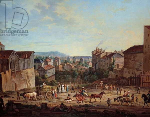 The Bastion of Michottes in Nancy. Painting by Jean Baptiste Claudot (1733-1805), circa 1801. Nancy, Musee Historique Lorrain - Michottes Bastion in Nancy (France). Painting by Jean Baptiste Claudot (1733-1805), 1801. Historical Museum of Lorraine, Nancy, France