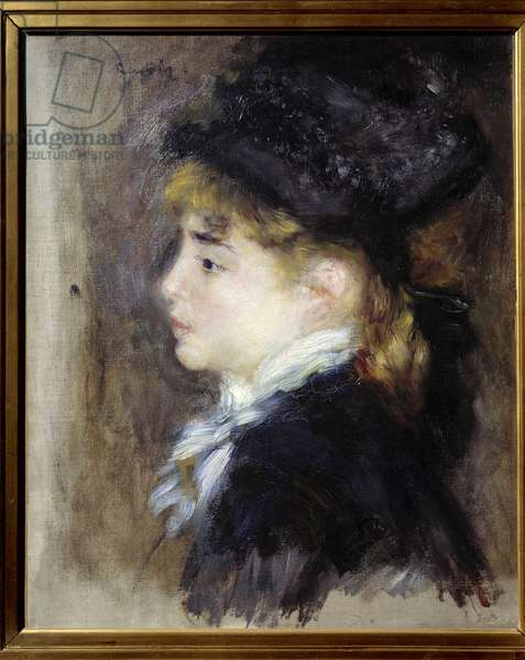 Portrait of Margot. Painting by Pierre Auguste Renoir (1841-1919), 1876. Oil on canvas. Dim: 0.46 x 0.38m. Musee d'Orsay.