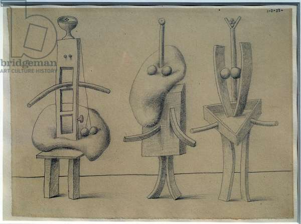 One anatomy: three women. Drawing by Pablo Picasso (1881-1973), 1933. Lead mine. Dim: 0,19 x 0,27m. Paris, Musee Picasso.