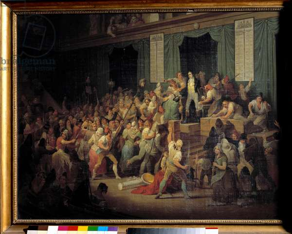 Boissy d'Anglas greeted the head of the feraud depute to the National Convention on 20 May 1795. Painting by Joseph Auguste Tellier (known around 1840), 19th century. Oil on canvas. Dim: 0,85 x 1,10m.