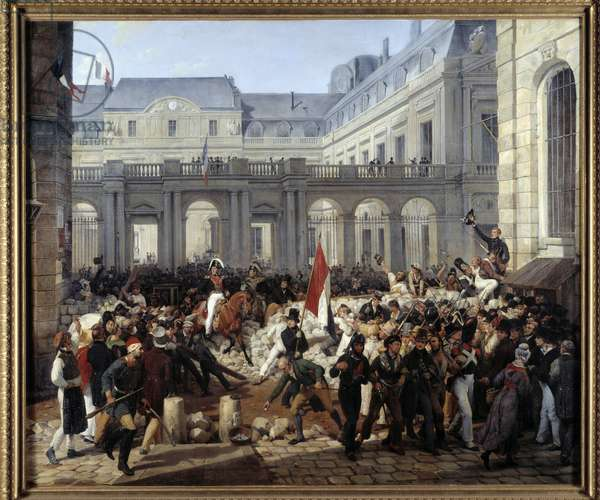 The Duke of Orleans left the Royal Palace to go to the Hotel de Ville (July 31, 1830). Louis Philippe d'Orleans became King of France Louis Philippe I (1773-1850). Painting by Emile Vernet Dit Horace (1789-1863), 1832. Oil on canvas. Dim: 2.28 x 2.58m.