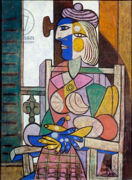 Woman sitting in front of the window, 1937 (oil and pastel on canvas)
