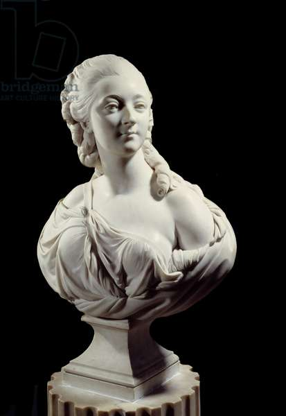 Bust of Jeanne Becu, Countess (or Madame) of the Barry (1743-1793). Sculpture by Augustin Pajou (1730-1809), 1773. Paris, Musee Du Louvre