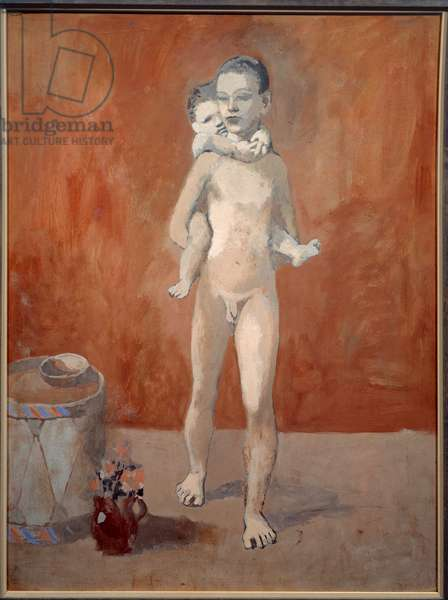 Both brothers. Gouache on cardboard. Dim: 0.80 x 0.59m. Painting by Pablo Picasso (1881-1973), 1906. Paris, Musee Picasso.
