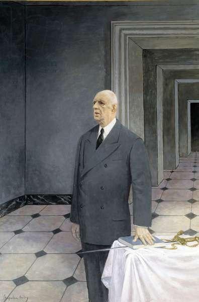 Portrait of General Charles De Gaulle (oil on canvas)