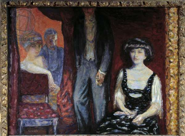 The dressing room. Painting by Pierre Bonnard (1867-1947), 1908. Oil on canvas. Dim: 0,91 x 1,20m. Paris, Musee d'Orsay.