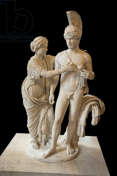 Art Rome Imperial Couple in March and Venus (between 120 and 140 AD) marble sculpture