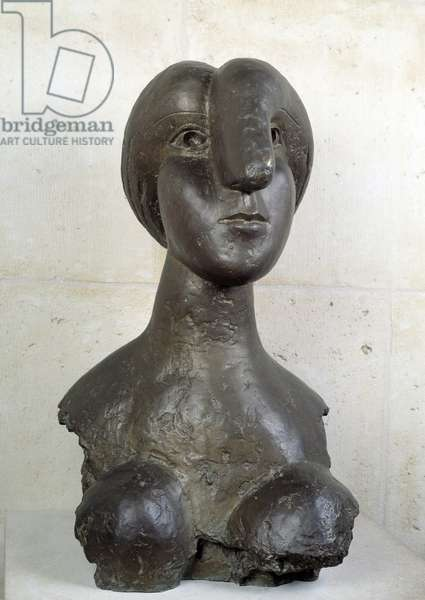 Female bust Bronze sculpture by Pablo Picasso (1881-1973) 1931 Paris, Musee Picasso