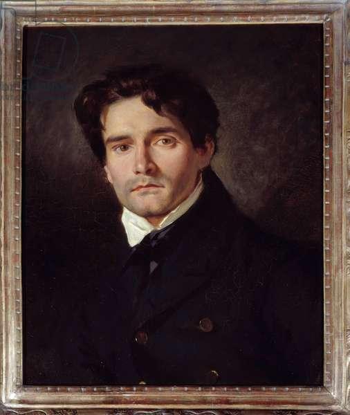 Portrait of the painter Louis Riesener (1808-1878) Painting by Eugene Delacroix (1798-1863) 1835 Sun. 0,54x0,44 m