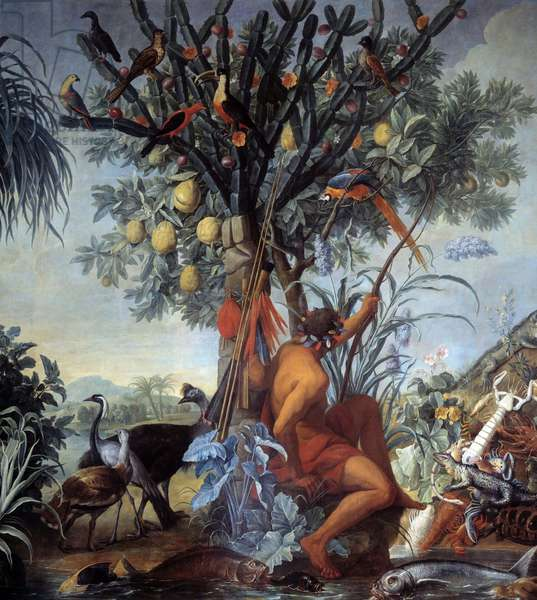 An Indian Hunter Painting by Francois Desportes (1661-1743) 18th century Sun. 3,72x4 m Marseille, Musee des Beaux Arts