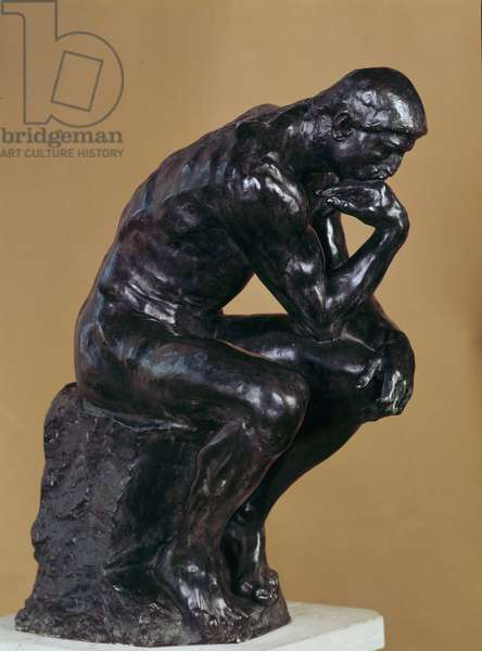 The thinker Bronze sculpture by Auguste Rodin (1840-1917).