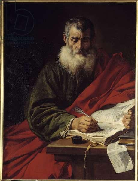 Saint Paul Writing. Painting by Jacob Adriaensz Backer (1608-1651) Ec. Hol., 17th century. Rouen, Museum of Fine Arts