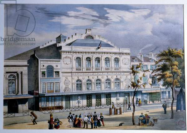 View of the Theatre de la Gaite in Paris Lithography of the 19th century Paris. Musee Carnavalet