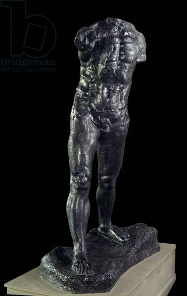 L'homme qui marche Bronze sculpture by Auguste Rodin (1840-1917) 1905 Paris, Musee Rodin.