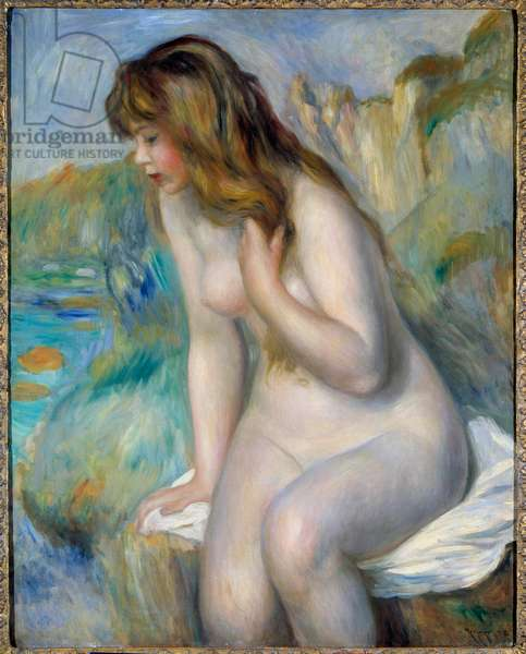 Bather Painting by Pierre Auguste Renoir (1841-1919) 1892 Private collection