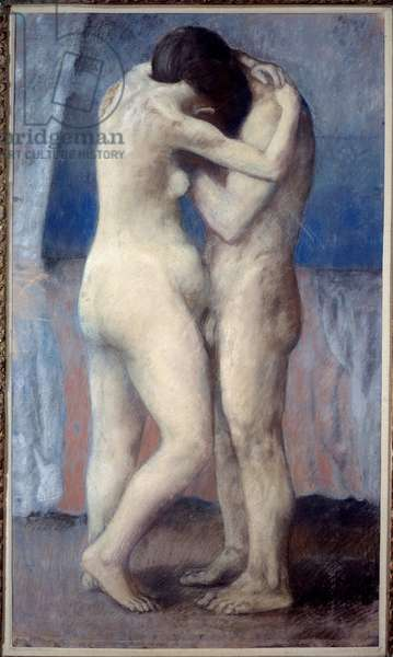 L'embrace, 1903 (pastel)