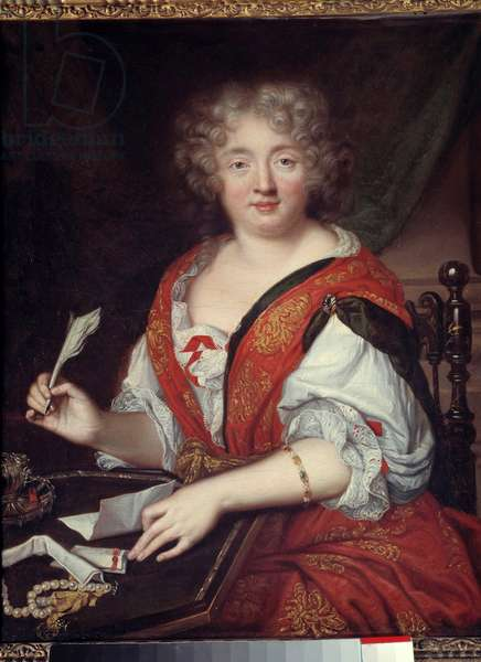 Portrait of a woman writing formerly identified as Madame de Sevigne (1626-1696) It would be Marie de Rabutin-Chantal (Rabutin Chantal), Marquise de Sevigne dit Madame de Sevigne (1626-1696), woman of letters. She wears a bracelet at half arm height. Anonymous painting. 1680. Dim. 0,620 x 0,50. Paris, musee Carnavalet - Portrait of a woman writing, once identified as Madame de Sevigne (1626-1696): This would be Mary Rabutin-Chantal (Rabutin Chantal), Marquise de Sevigne said Madame de Sevigne (1626-1696), woman of letters. She wears a bracelet halfway up the arm. Anonymous. Painting. 1680. 0.620 x 0.50. Carnavalet museum, Paris