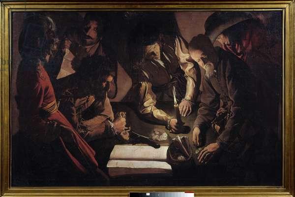Money pays also means settling accounts. Painting by Georges De La Tour (1593-1652), 17th century. oil on canvas. Dim: 0,99 X 1,52m. Lviv, Museum of Fine Arts