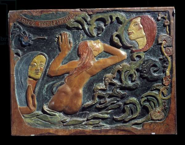 Be Mysterious Relief carved in linden wood by Paul Gauguin (1848-1903), 1890. Musee d'Orsay, Paris