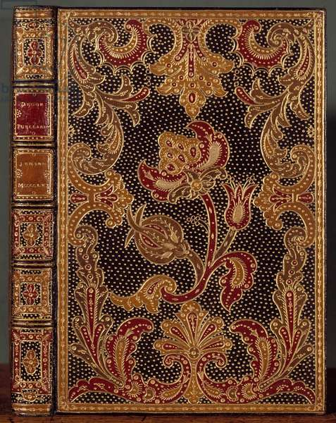 """Cover connects """"Decor Puellarum"""""""" by Nicolas Jenson (or Janson) (1420-1480), 1461. Binding by Antoine Michel Padeloup (1685-1758) 18th century Chantilly, museum conde"""