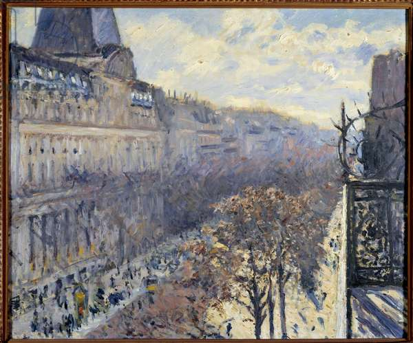 The Boulevard des Italians in Paris Painting by Gustave Caillebotte (1848-1894) 1880 Private Collection
