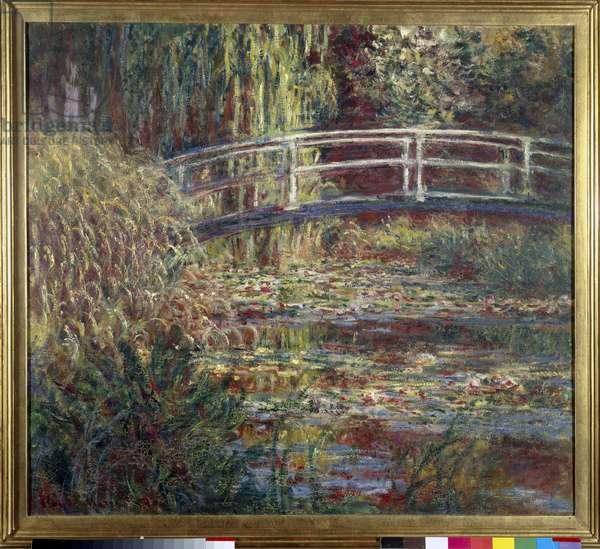Le bassin aux nympheas, harmonie rose Painting by Claude Monet (1840-1926) 1900 Sun. 0,89 x 1,00 m Paris, musee d'Orsay - Waterlilies pool, pink Harmony - Painting by Claude Monet (1840-1926), oil on canvas (89 x 100 cm), 1900 - Musee d'Orsay, Paris, France
