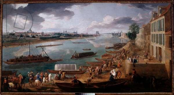 View of Paris, taken from the Quai de la Rapee in 1716 Painting by Pierre Denis Martin (1663-1742) 1716 Sun. 1,7x3,15 m Paris, Musee Carnavalet