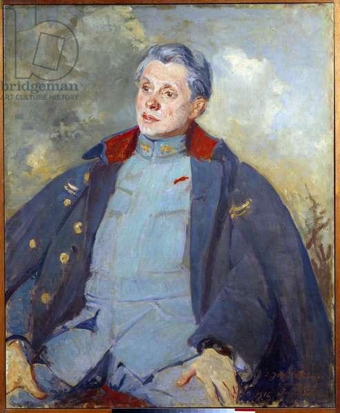 Portrait of the French politician Joseph Paul Boncour (Paul-Boncour) (1873-1972) as an officer Painting by Jacques Emile (Jacques-Emile) Blanche (1861-1942) 1916 Sun. 0,81x1 m Rouen, musee des Beaux Arts