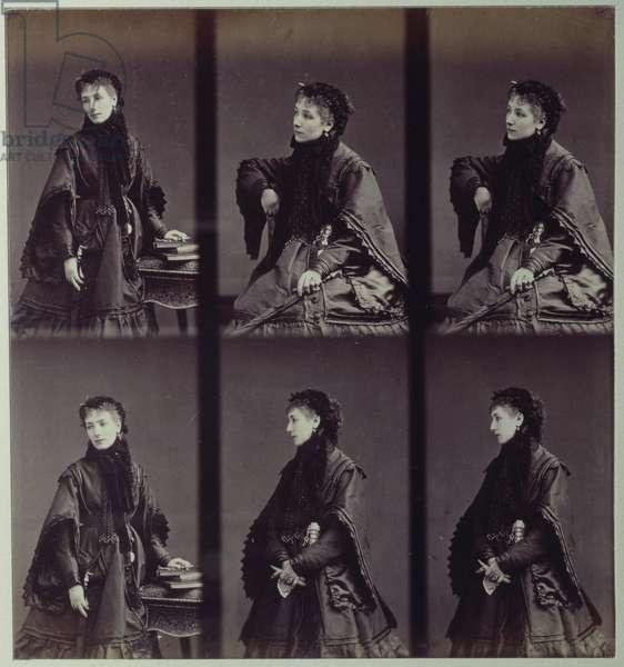 Portrait of Sarah Bernhardt (1844-1923) in town costume