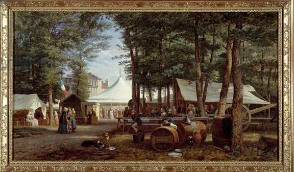 The feast of the lodges in 1850. Painting by Georges Prieur (19th century), 1850. Meaux, Musee Bossuet