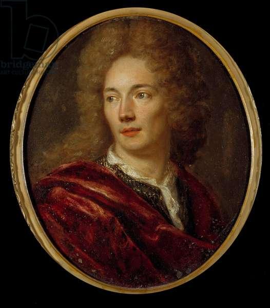 Portrait of Jean de La Bruyere (1645-1696) moralist francais Painting on anonymous copper. 17th century.