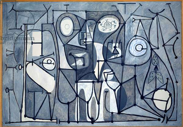 The kitchen. Painting by Pablo Picasso (1881-1973), 1848. Oil on canvas. Dim: 1,75 x 2,52m. Paris, Musee Picasso.