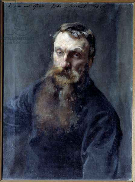 Portrait of the sculptor Auguste Rodin (1840-1917) Painting by John Singer Sargent (1856-1925) 19th century Paris, Musee Rodin