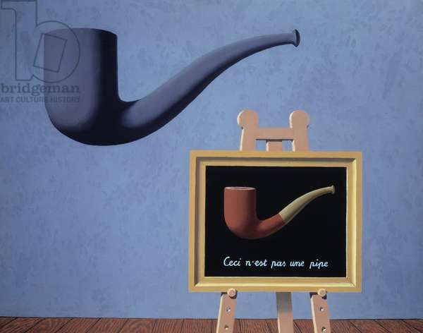 This is not a pipe, 1966 (oil on canvas)