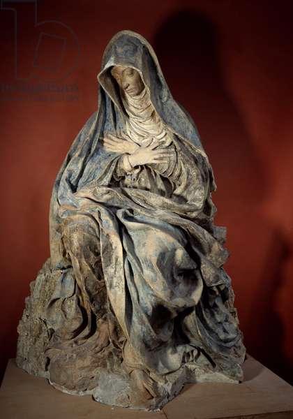 Virgin of Pain Sculpture by Germain Pilon (1535-1590) 16th century Paris, Louvre Museum
