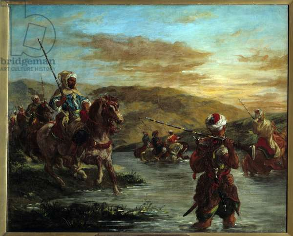 The passage of a gue in Morocco. Painting by Eugene Delacroix (1798-1863), 1858. h s/t. Dim: 0.60 x 0.73m. Paris, Musee D Orsay