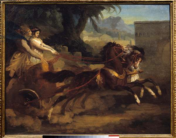Ancient tank race Painting by Theodore Gericault (1791-1824) 1808 dim.0,63x0,79 m Rouen, Musee des Beaux Arts