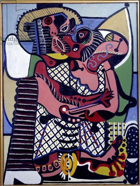 Kiss a Juan les Pins Painting by Pablo Picasso (1881-1973) 1925 Sun. 1,3x0,97 m Paris, Musee Picasso