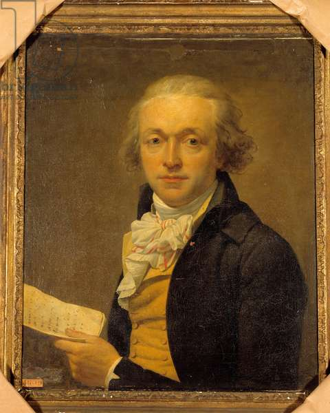 Portrait of Joseph Delaunay (1746 - 1794) was a member of the National Assembly and the Convention. Painting by Jean Louis Laneuville (1748-1826), 1793. oil on canvas. Dim: 0.64 x 0.54m.