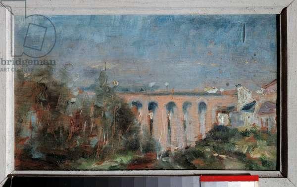 The viaduct of Castelviel has Albi Painting by Henri de Toulouse Lautrec (1864-1901), 1880. Sun 0,14x0,23 m Albi, musee Toulouse Lautrec