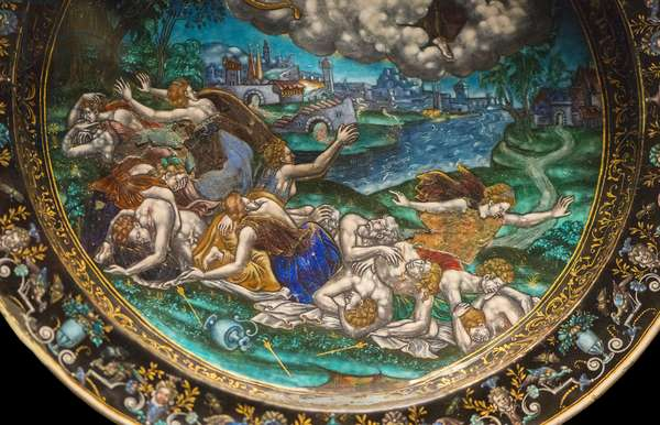 Detail - Flat around 1580: the massacre of the Niobides.