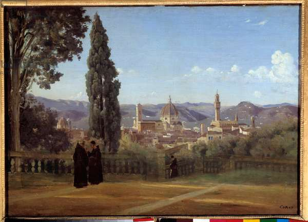 View of Florence from the gardens of Boboli Painting by Camille Corot (1796-1875) 1835 Sun. 0,51x0,73 m
