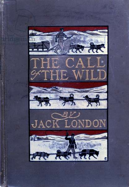 """Cover of """"The call of the wild"""" by Jack London (1876-1916) 1903"""