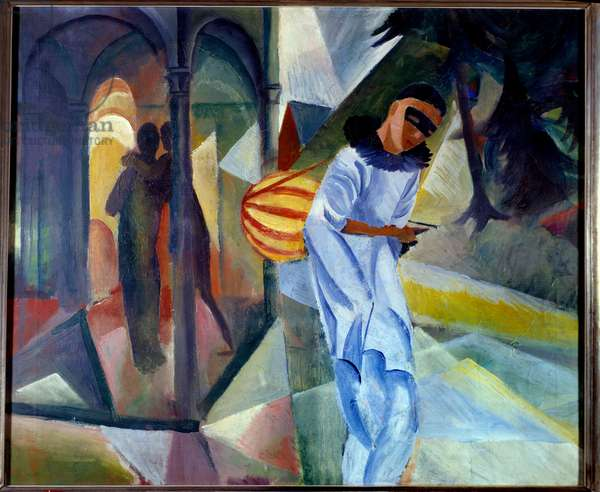 Pierrot. Painting by August Macke (1887-1914), 1913. Bichfeld, Kunsthalle