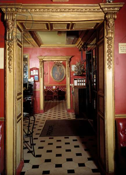 Perspective view of the cafe Procope, Paris