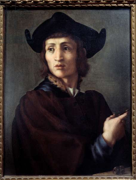 Portrait of a jeweler. Painting by Jacopo (Iacopo) Carrucci dit il Pontormo (Pontormo) (1494-1556), 16th century. Oil on wood. Dim: 0.70 X 0.53m. Paris, Musee Du Louvre