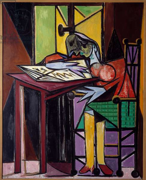Woman reading. Oil on canvas. Dim: 1,62 x 1,13m. Painting by Pablo Picasso (1881-1973), 1935. Paris, Musee Picasso.