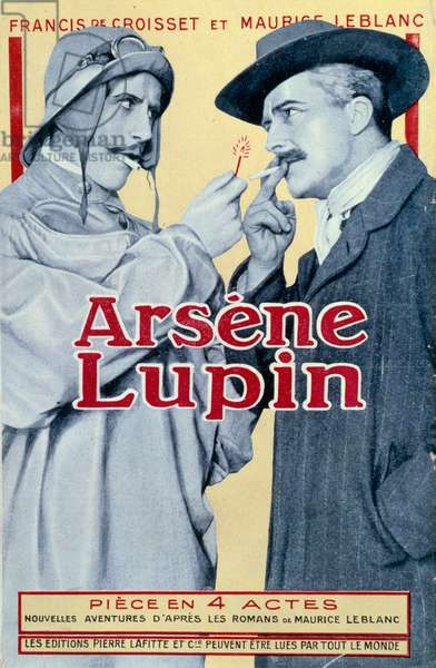 "Cover of the book """" Arsene Lupin"""" by Francis Boisset and Maurice Leblanc, 20th century. Paris, NL"