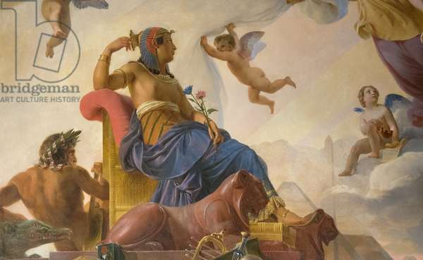 The Study and Genia Devote Ancient Egypt to Greece (painting 1827)